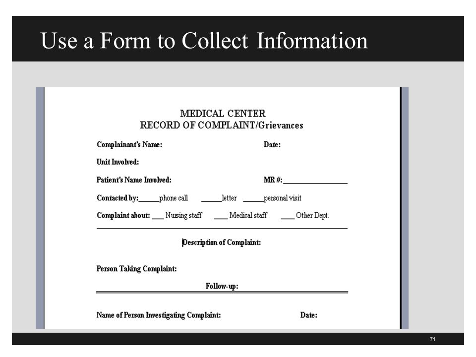 Use a Form to Collect Information
