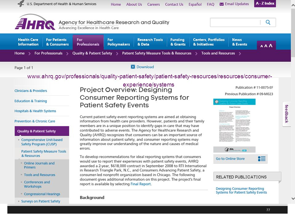 www.ahrq.gov/professionals/quality-patient-safety/patient-safety-resources/resources/consumer-experience/systems/