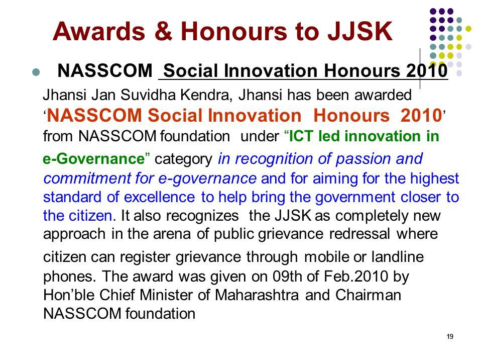 Awards & Honours to JJSK