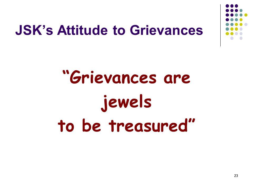 JSK's Attitude to Grievances