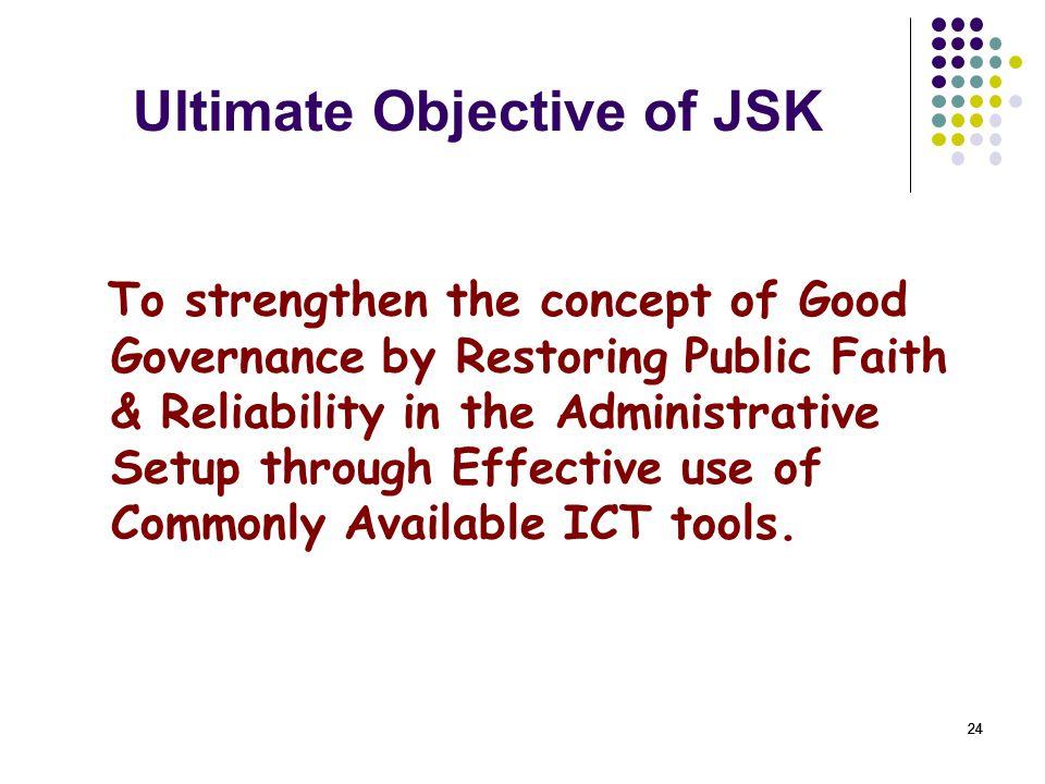 Ultimate Objective of JSK