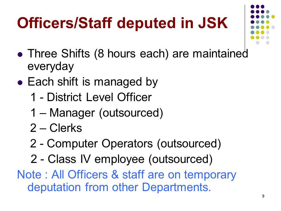 Officers/Staff deputed in JSK
