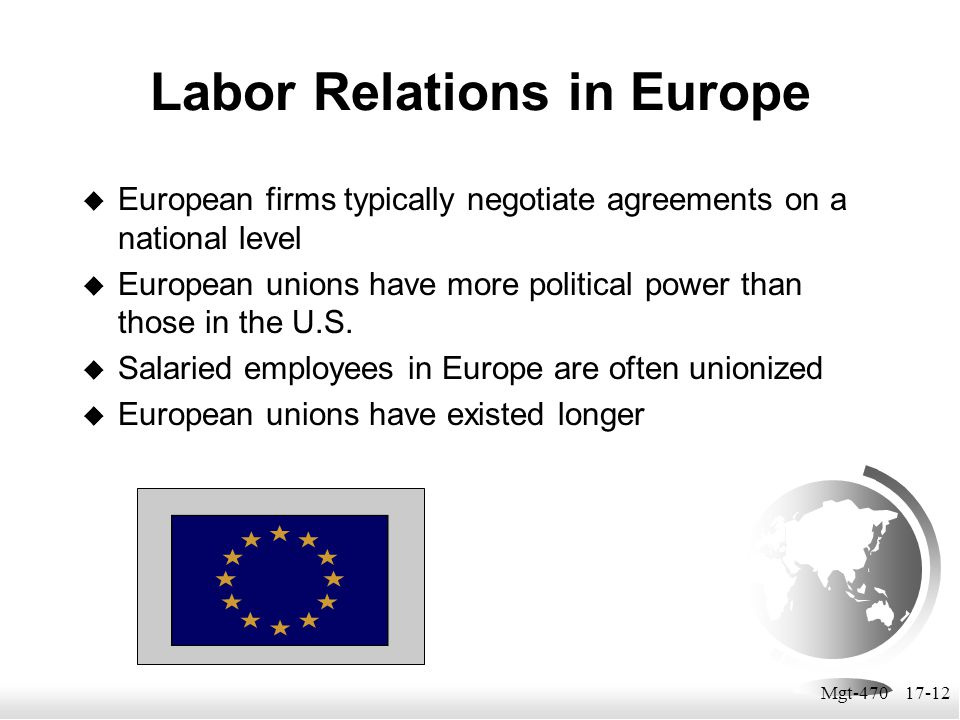 Labor Relations in Europe
