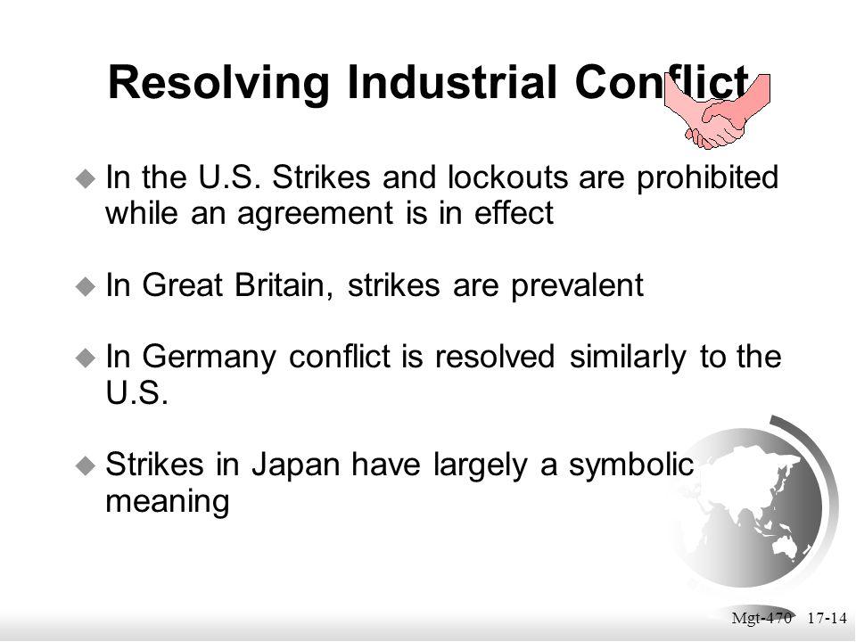 Resolving Industrial Conflict