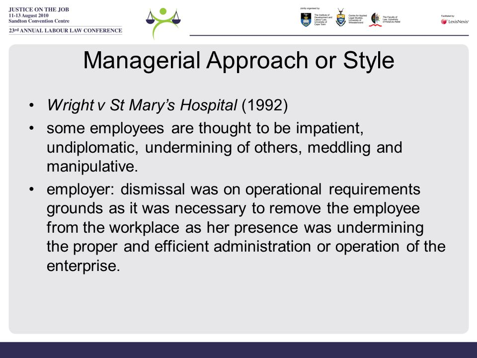 Managerial Approach or Style