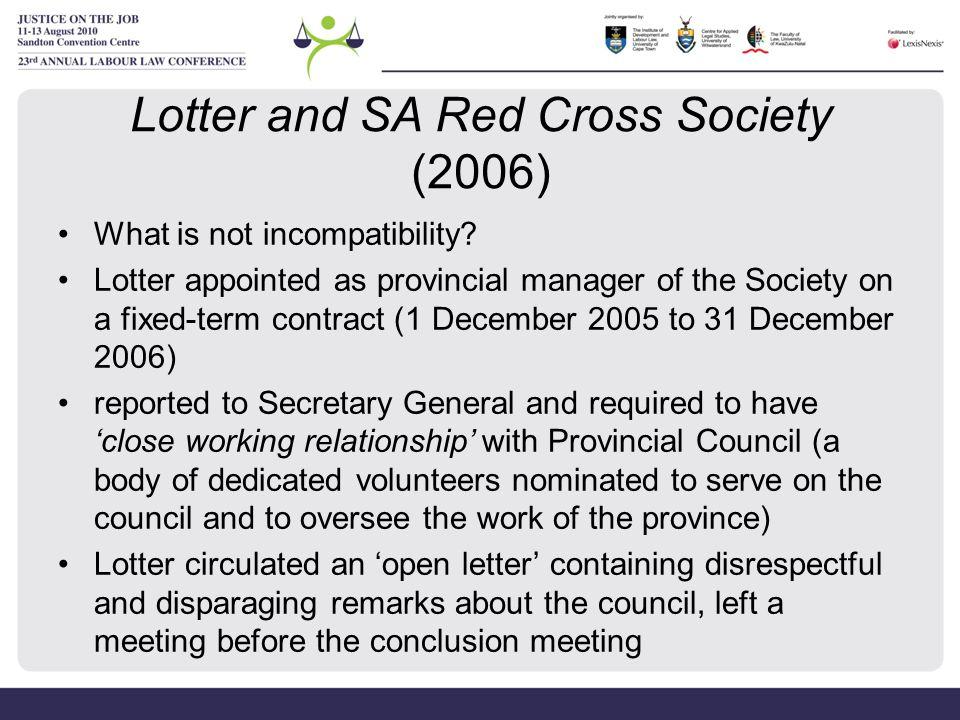 Lotter and SA Red Cross Society (2006)