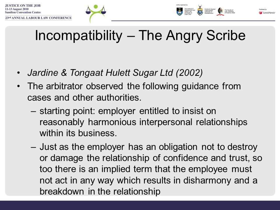 Incompatibility – The Angry Scribe