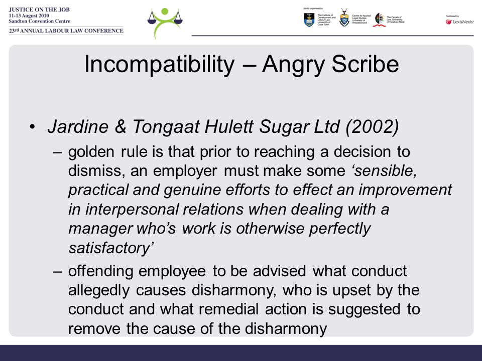 Incompatibility – Angry Scribe