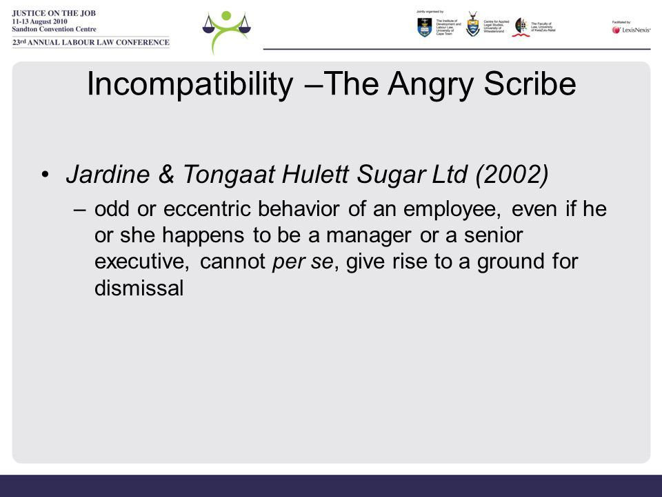 Incompatibility –The Angry Scribe