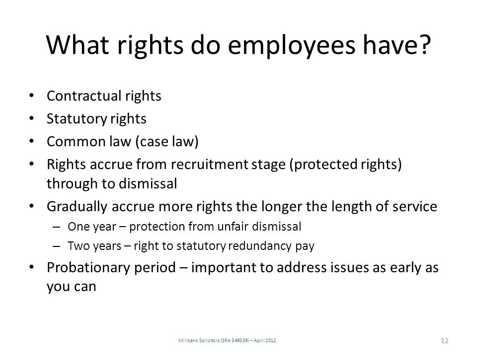 What rights do employees have