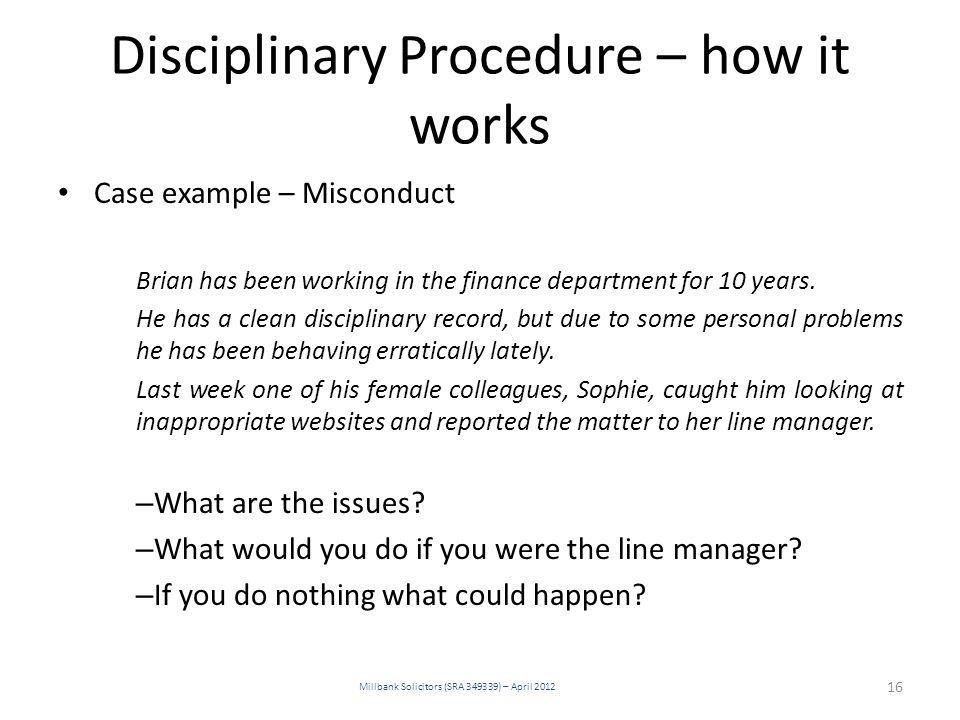 Disciplinary Procedure – how it works