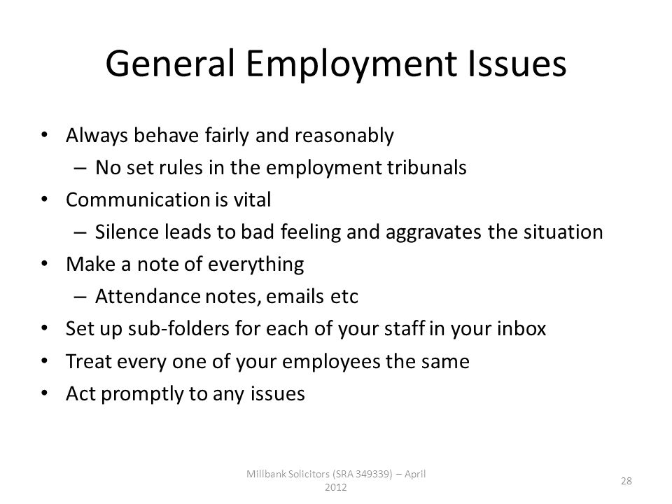 General Employment Issues