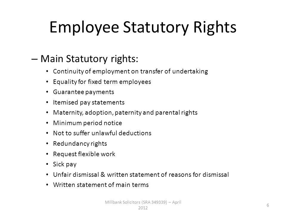 Employee Statutory Rights