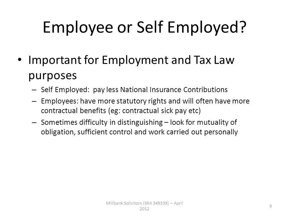 Employee or Self Employed