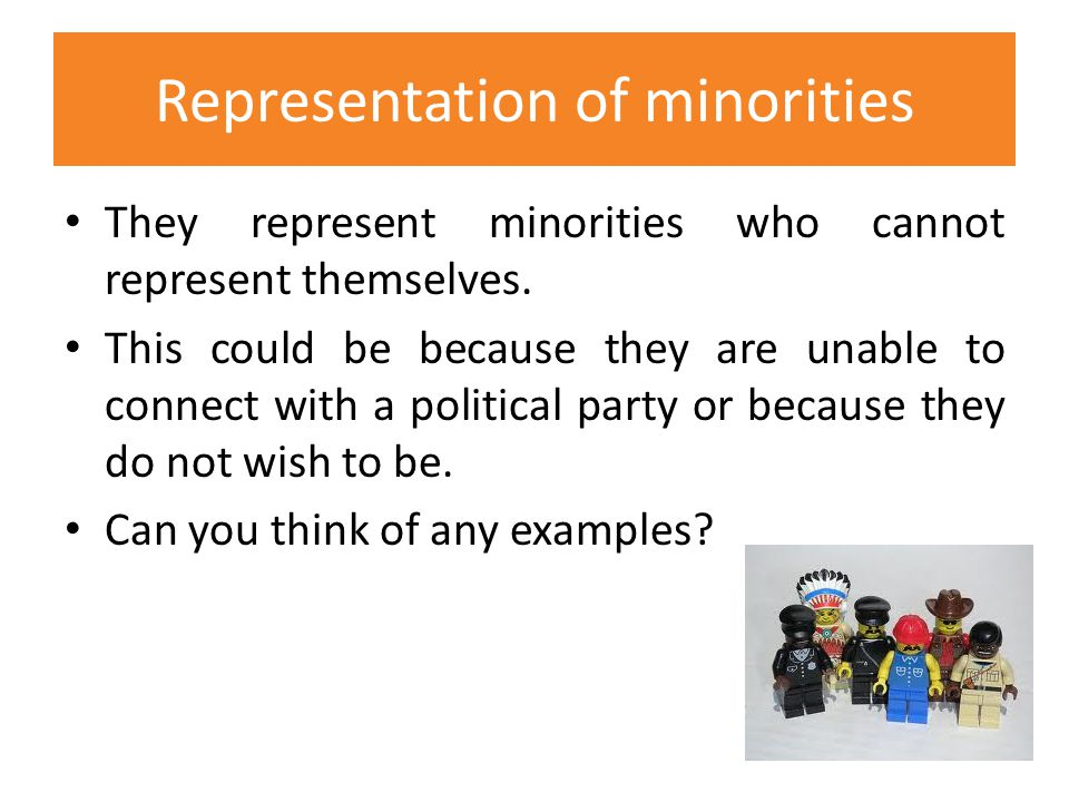 Representation of minorities
