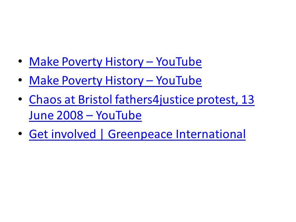 Make Poverty History – YouTube