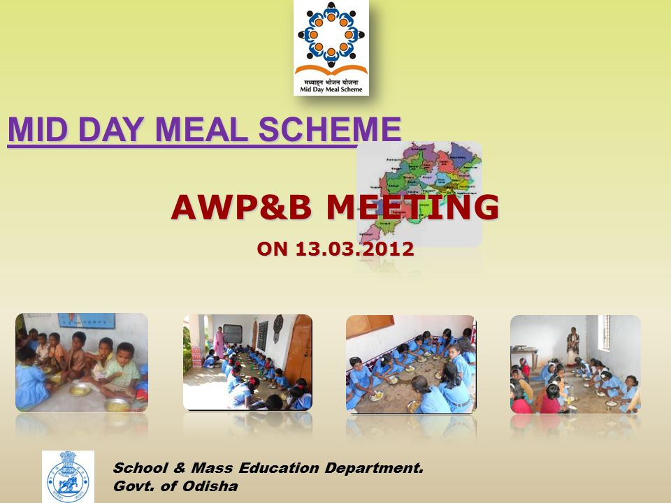 MID DAY MEAL SCHEME AWP&B MEETING ON 13.03.2012