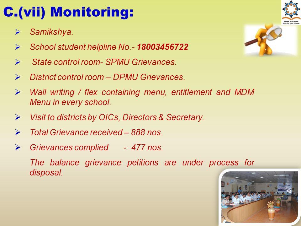 C.(vii) Monitoring: Samikshya.