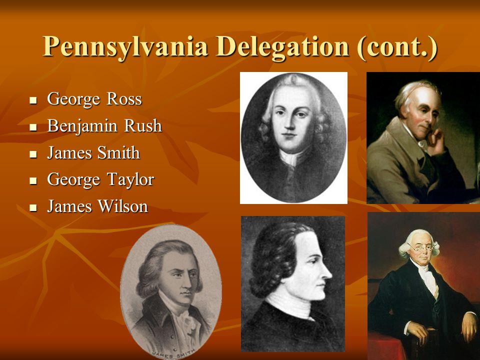 Pennsylvania Delegation (cont.)