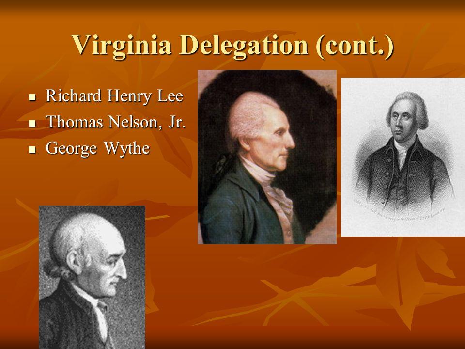 Virginia Delegation (cont.)