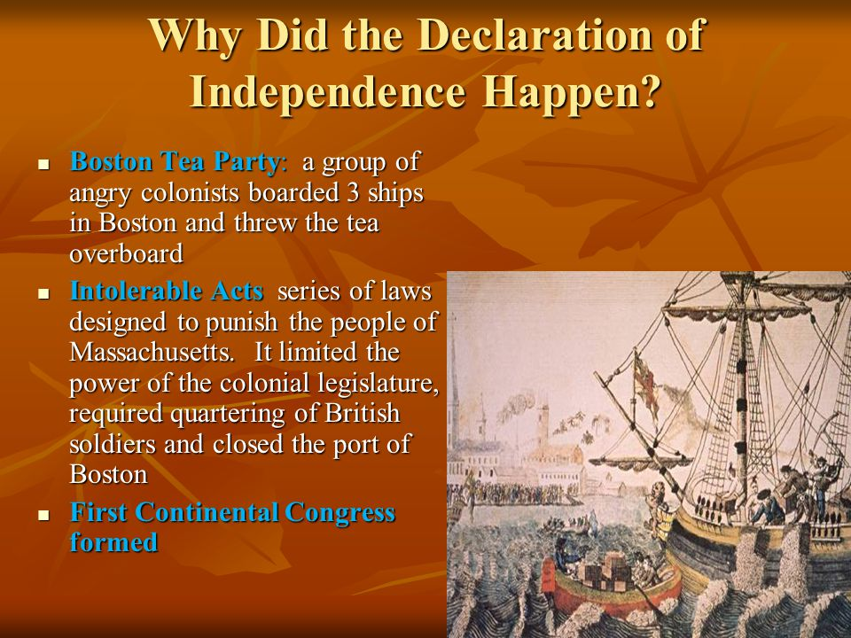 Why Did the Declaration of Independence Happen