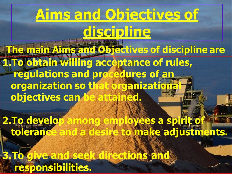 Aims and Objectives of discipline
