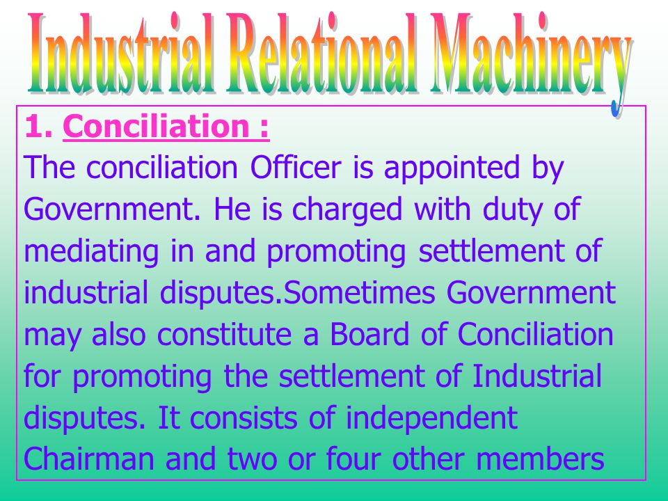 Industrial Relational Machinery