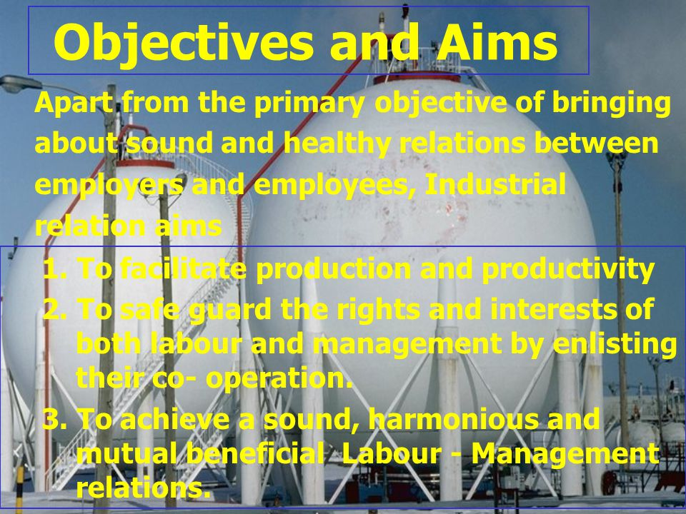 Objectives and Aims Apart from the primary objective of bringing