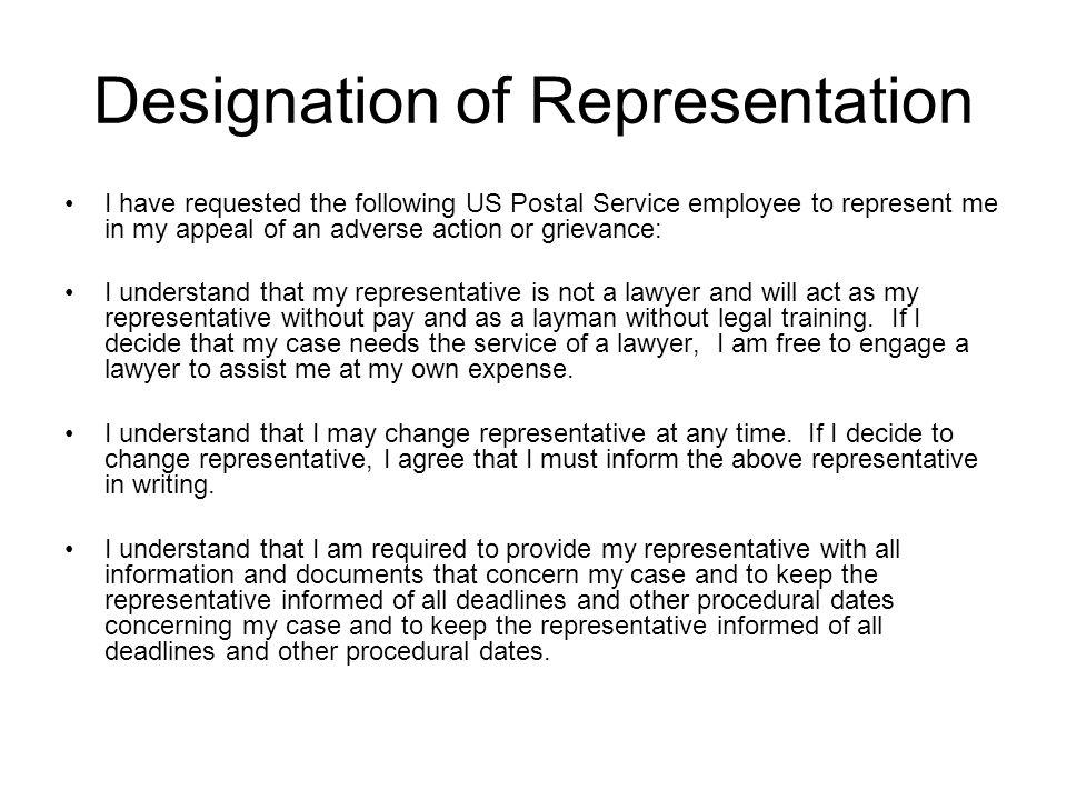 Designation of Representation