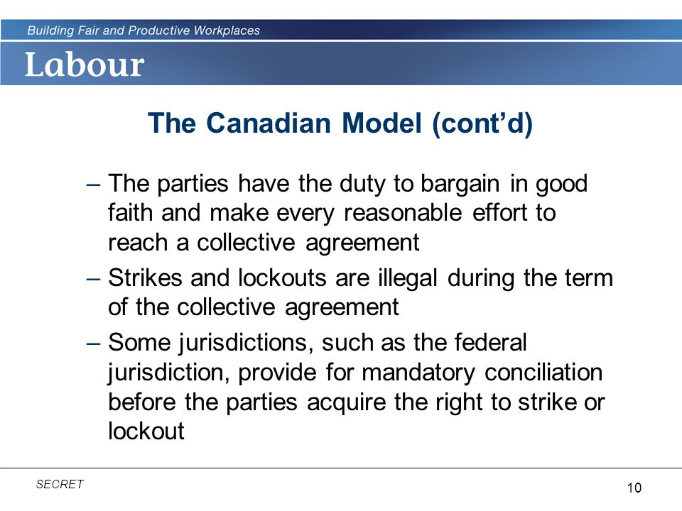The Canadian Model (cont'd)