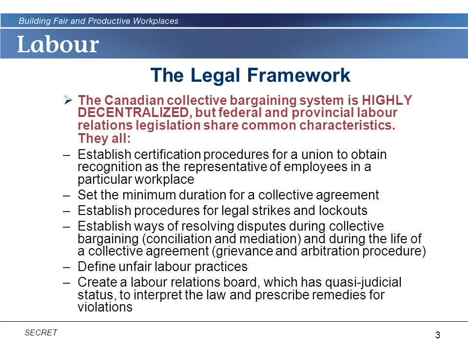 The Legal Framework