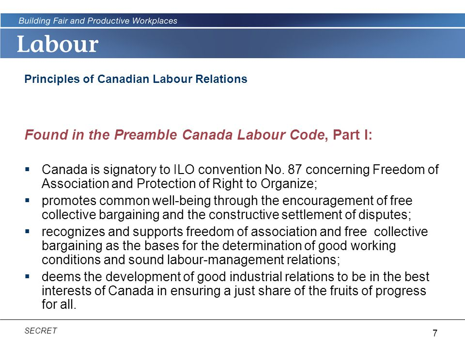 Principles of Canadian Labour Relations
