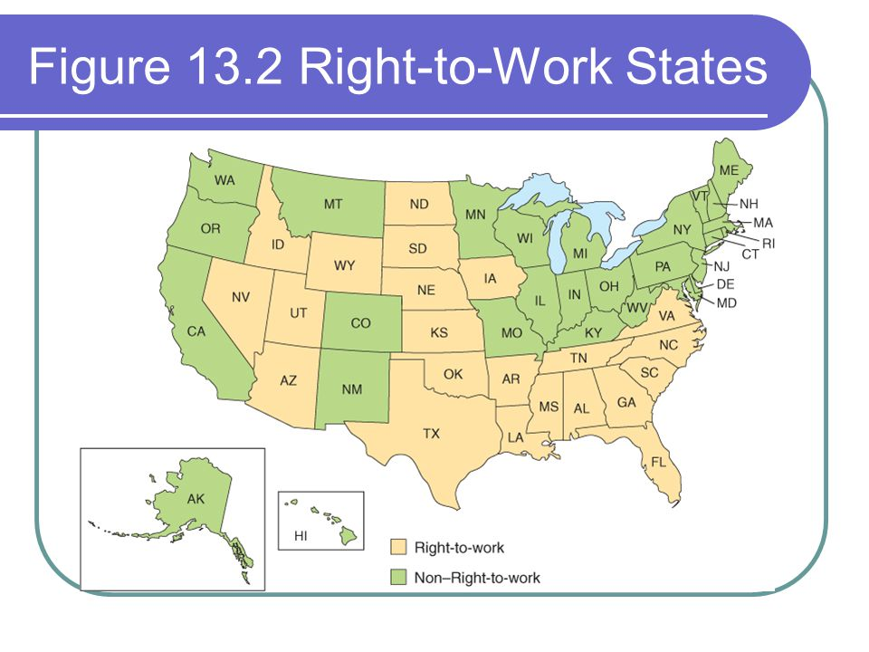 Figure 13.2 Right-to-Work States