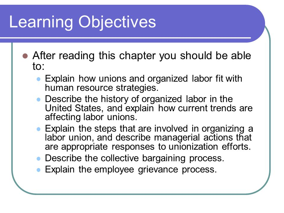 Learning Objectives After reading this chapter you should be able to: