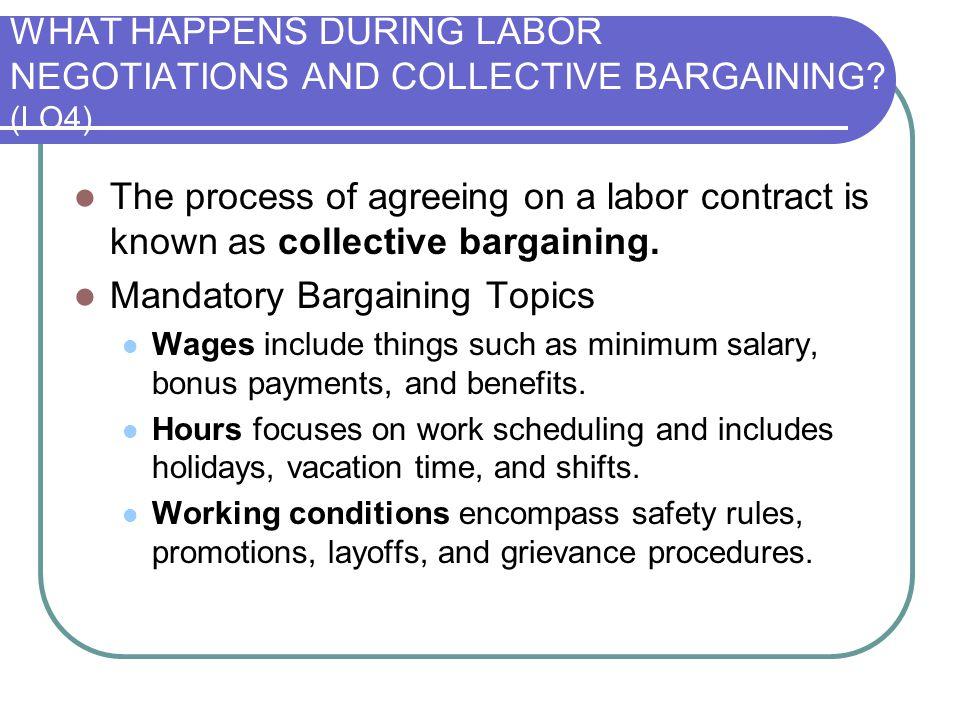 Mandatory Bargaining Topics