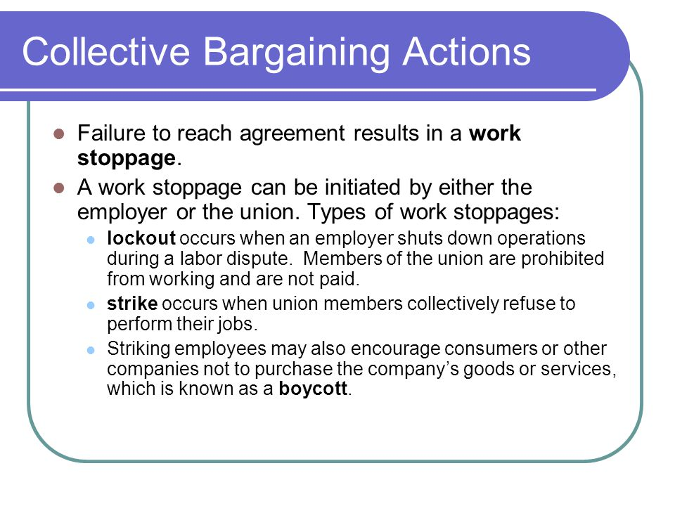 Collective Bargaining Actions