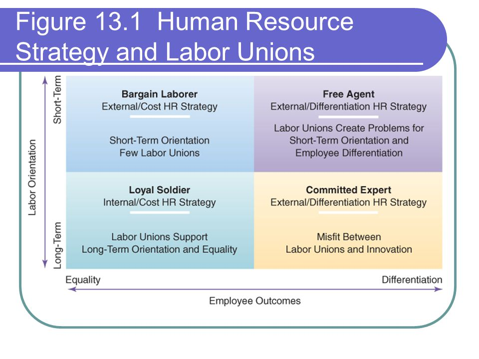 Figure 13.1 Human Resource Strategy and Labor Unions
