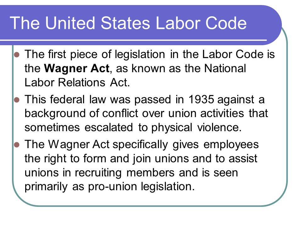 The United States Labor Code