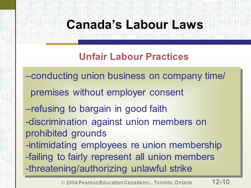 Unfair Labour Practices