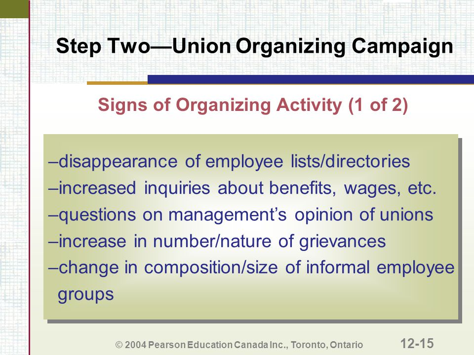 Step Two—Union Organizing Campaign