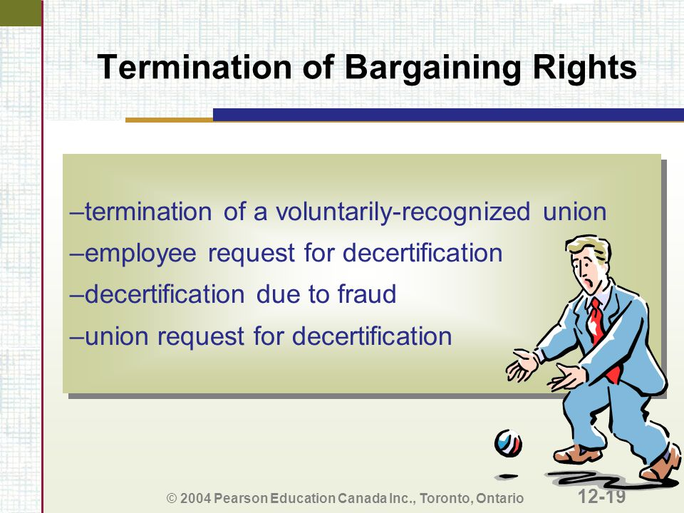 Termination of Bargaining Rights