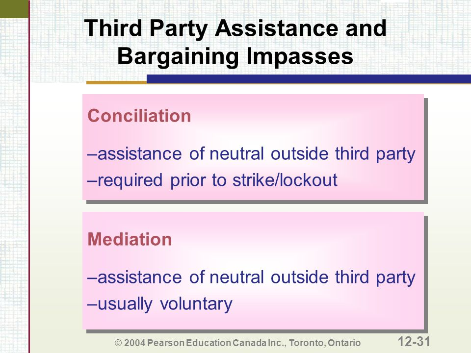 Third Party Assistance and Bargaining Impasses