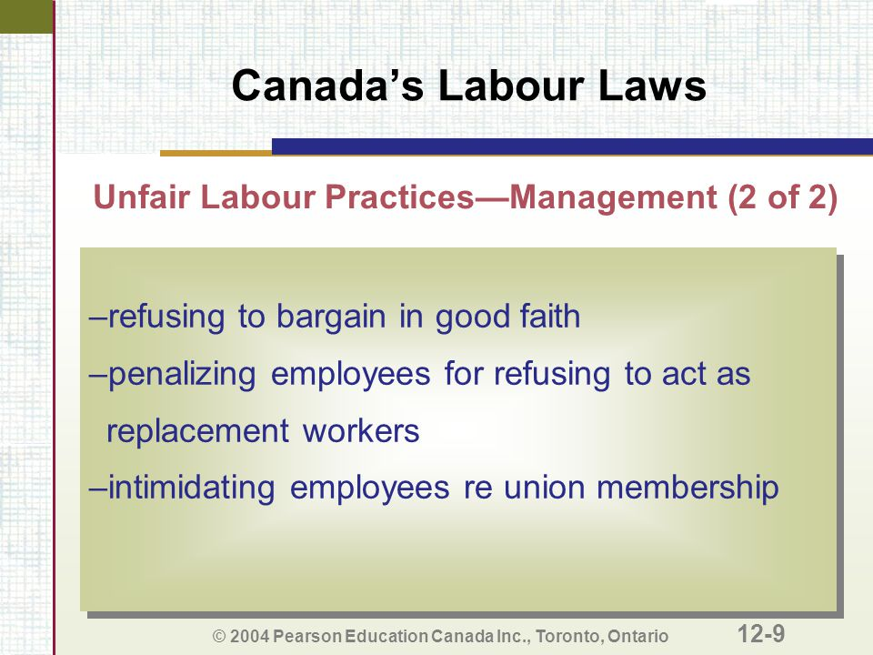 Unfair Labour Practices—Management (2 of 2)