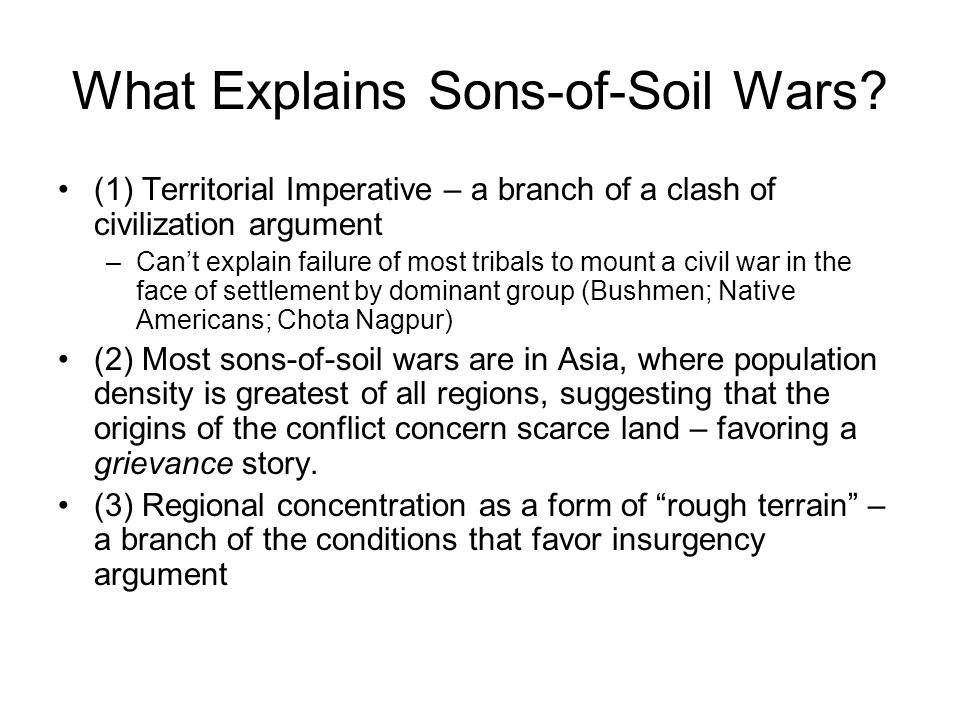 What Explains Sons-of-Soil Wars