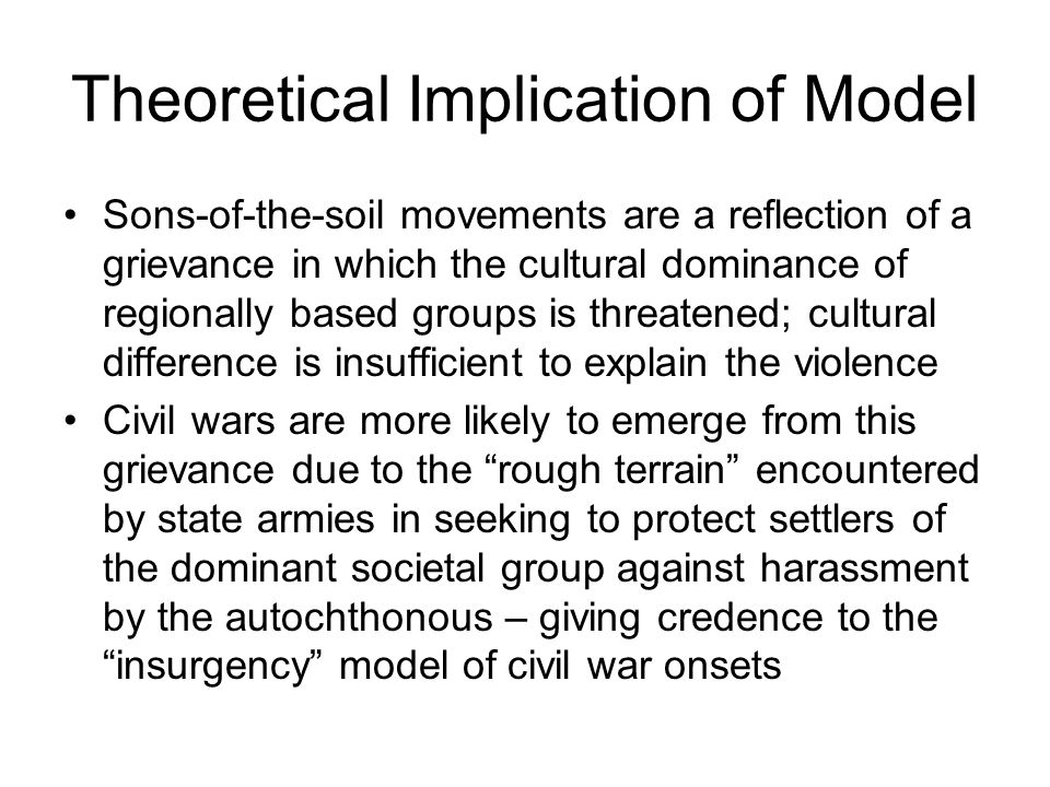Theoretical Implication of Model