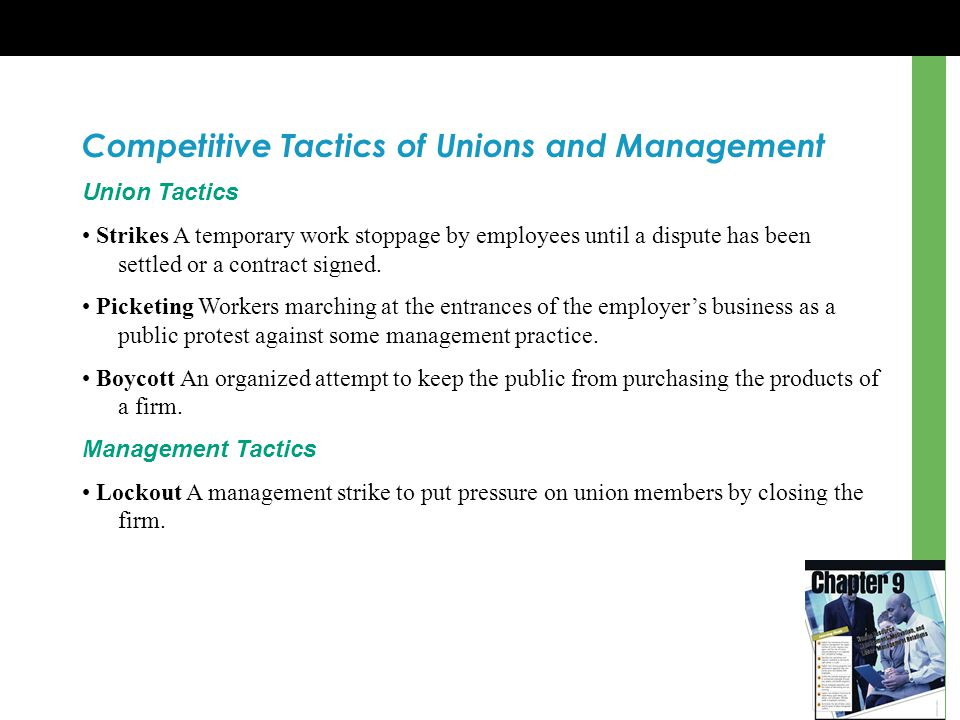 Competitive Tactics of Unions and Management