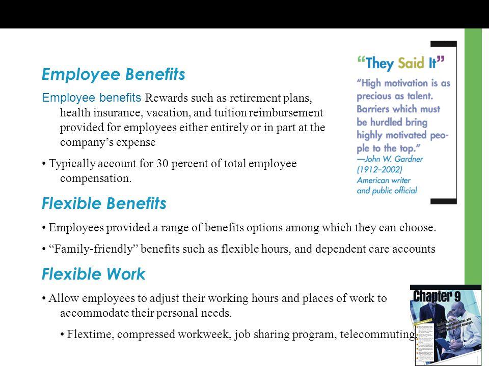 Employee Benefits Flexible Benefits Flexible Work