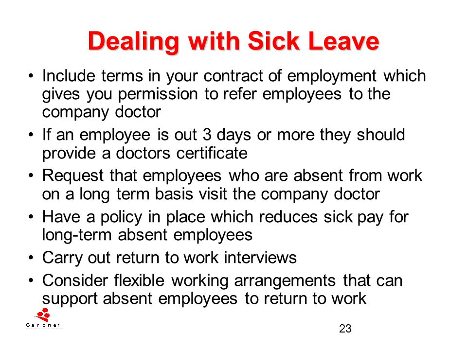 Dealing with Sick Leave