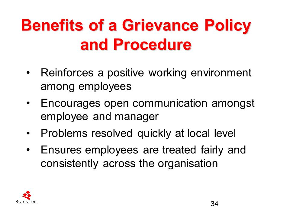 Benefits of a Grievance Policy and Procedure
