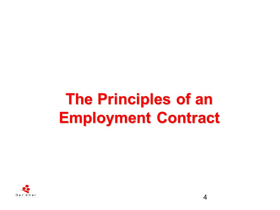The Principles of an Employment Contract